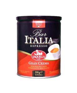 پودر قهوه ایتالیا بار اسپرسو گران کرما ساکوئلا ۲۵۰ گرمی SAQUELLA