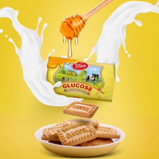 بیسکویت تیفانی شیر وعسل